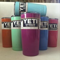 Wholesale 7 Colors oz Yeti Cup Stainless Steel Yeti Rambler YETI Coolers Rambler Tumbler Double Walled Travel Mug YETI cup colster