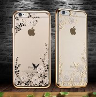 apple bran - Cell Phone Cases TPU Electroplate Diamond Dirt Resistant wear resistant Anti Skidding For iPhone S or Samsung or Chinese Bran