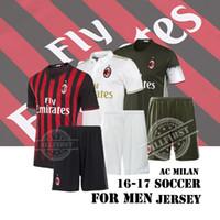ac uniforms - New AC Milan Top Quality Soccer Jersey Uniforms Men Soccer Kit BACCA KAKA BONAVENTURA HONDA SUSO DONNARUMMA Home Away Football Kit