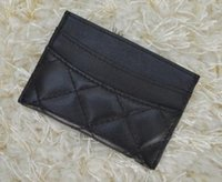 Wholesale Women genuine leather credit card holder lambskin card holder famous brand wallet for credit cards vintage classic cardholder porte carte