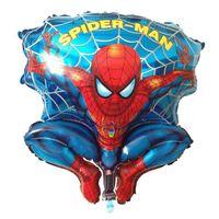 aluminium market - balloons SMILE MARKET cm New Irregular foil Blue Spiderman Balloons birthday gift baby toy Classic Toys decoration