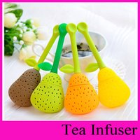 beauty spices - Silicone healthy Pear Design Tea Leaf Strainer Herbal Spice Infuser Teacup Teapot Filter for Health Beauty