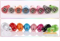 auto plug adapter - For Iphone Mini Car Charger Colorful Ports Nipple Car Adapter Cigarette Plug mAh Auto Power Adapter Opp Package
