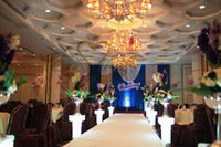 Wholesale New Design Royal Blue Wedding Backdrop Curtain With Silver Sequin Fabric