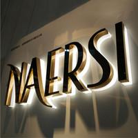 Wholesale Acrylic back lit LED letters acrylic advertising letters illuminated sign custom led sign letters