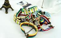 Wholesale 2016 Euro Cup gift bracelet electroplating alloy popular DIY unisex soccer fans souvenir velour bracelet chain