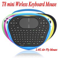 best keyboard mouse - 2016 Best T8 mini Wirless Keyboard Mouse G Air Fly Mouse Silicone Keyboard With Muti touch Touchpad For Android TV Box Notebook Tablet
