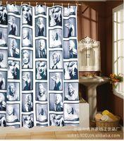 Wholesale Waterproof Shower Bath Bathroom Curtain With Hooks Marilyn Monroe Romantic Curtain