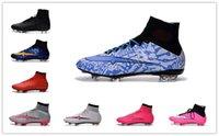 Wholesale original high quality Superfly FG CR7 Football Boots Men s Soccer Shoes Botas Futbol Hombre Outdoor Soccer Cleats