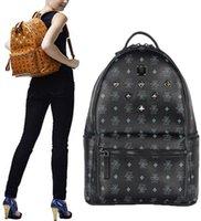 Wholesale 2016 summer new arrival Fashion punk rivet backpack school bag unisex backpack student bag men travel STARK BACKPACK