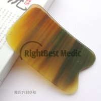 big horn tools - Yellow BUFFALO HORN Gua Sha Board Health Care Massage Scrape guasha plates Slimming Guasha Massage Tools Big Square Shape