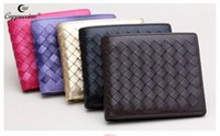 beautiful note cards - 2016 Cappuccino Brand new style short sheepskin woven leather wallet women s wallet fashion beautiful sheep skin Genuine Leather