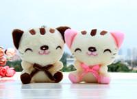 Wholesale 2016 New length cm Plush toys Lucky Cat Plush Keychain cartoon ornaments Stuffed animals colors Christmas gift