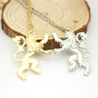 animal love games - game of thrones necklace vintage cersei lannister hourse gold lion badge pendant song of ice and fire