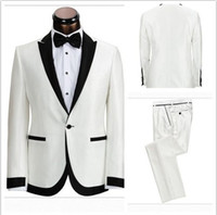 beautiful men images - cheap men suits custom made Beautiful Light white ivory Suits Groom wedding suit for men Tuxedos Suit Jacket Pants