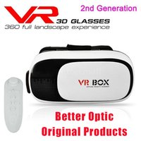Wholesale VR Box Virtual Reality D Glasses Headset Gear vr Oculus Rift For Smartphone inch inch with Retail Package