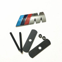 Wholesale for BMW M front gille grill emblem M badge sticker car metal decal M3 M4 M5 YY189