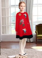 active clothing brand - Girls Dress Long Sleeve Winter Brand Kids Dresses for Girls Clothes Fairytale Embroidery Christmas Dress Princess Costume
