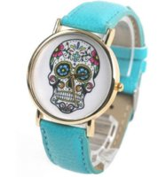 analog mail - Cool Skull Skeleton Wrist Watch colors china post air mail Cheap fabric covered photo albums