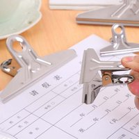 art binder - Stainless Steel Binder Clip Office School Tool Grip Clips Bulldog Letter Metal Paper Clip mm mm mm