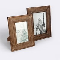 Wholesale Creative home Bedside Frame Decoration Retro wood table frame photo frames