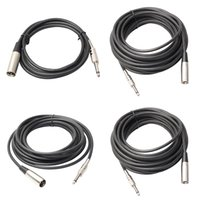 Wholesale XLR Pin Male to quot Mono Plug Shielded Microphone Mic m m m m Audio Cord Cable