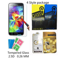 Wholesale For iphone7 plus D Tempered Glass Protector Guard Film With Cloth H mm For iphone5 S SE S PLUS S Samsung S6 S5 S4 S7