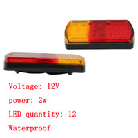 auto parts international - 2xHigh Quality V LED tail Light Rear brake stope Volkswagen Indicator Trailer Lamp Kit Parts Replacement Auto Bus RV Boat Tow Truck Towing