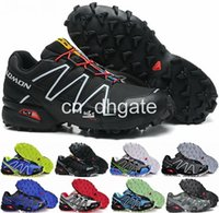 Wholesale Speedcross Outlet Mens Hiking Running Shoes Barefoot Sports Shoes Zapatillas Newest Style Pure Black Size