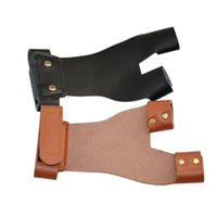 Wholesale Archery Cow Leather Finger Guard for Bow Arrow Outdoor Hunting Shooting Accessories Finger Protector Glove for Left Hand