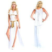 ancient greek clothes - Leather Ancient Greek Warrior costumes Spanish gladiator suit Halloween Christmas Cosplay clothing for woman Fancy dress