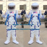astronaut helmet - Featurely White Astronaut Cosmonaut Spaceman Spacefarer Mascot Costume Cartoon Character Mascotte Adult Round Helmet NO FS