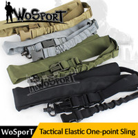 Wholesale Tactical One Point Sling Adjustable Nylon Weapon Sling Bungee Rifle Camera Gun Sling Hunting Gun Accessories