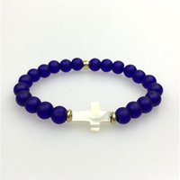acrylic shot glasses - Glass Stone Bracelets Natural Shell Bracelet jewelry made Shot Lucky Pearl Shell Lucky Hand Chain Bracelet Fashion jewelry made in china