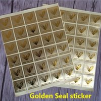 Wholesale New Vintage Creative Golden Heart design thanks series seal sticker Christmas DIY note gift Labels