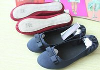 Wholesale 2016 NEW Brand Bow Fashion Ballet shoes for Women dance shoes and Lady Room flats Red Blue Gray
