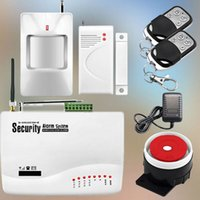 Wholesale GSM Alarm System With PIR Motion Door Sensor For Home Security Alarm System Russian and english manual