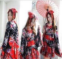 anime flower girl - Fashion Woman Cosplay Lolita Kimono Dress Girls Flower Rose Skirt