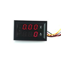 Wholesale DC V A Voltmeter Ampmeter DC Volt Amp Meter For Car Or Machines Red Digital LCD Display