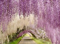 arches for wedding - Upscale Artificial Silk Wisteria Flowers For DIY Wedding Arch Square Rattan Simulation Flowers Home Wall Hanging Basket Decorations