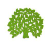 Wholesale 60pcs felt big tree coasters pot pad cartoon cup mat drop shippi Can be customized and adding logo