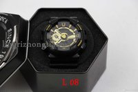 acrylic led display box - GOOD BOX Top quality new watches men luxury brand GA110 men sports watch digital and analog watches