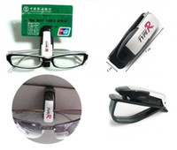 Wholesale Portable Car Vehicle Sun Visor Glasses Card Pen Clip Sunglasses Holder Auto Fastener Car Accessories Bank Card Ticket Holder