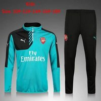 Wholesale 2016 new Arsenal soccer training clothes sweater coat men kids long sleeved Set autumn winter Soccer Jerseys sport Soccer Uniforms