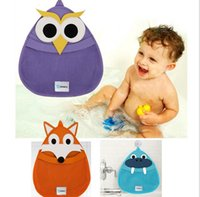 bath bag for toys - Cute Fox Owl Bathing bag Toy Storage Bag for Kids Baby Bath Tub Toy Bag Hanging Organizer Storage Bag Baby Bath Toys Bag K7070 BJ