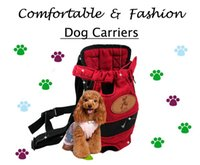 Wholesale Dog carrier fashion red multi color Travel dog backpack breathable pet bags shoulder pet puppy carrier