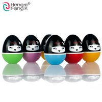 Wholesale 1Pc New HengFang Makeup Round Ball Moisturizing lip balm Natural Sphere lip Pomade Lipstick Fruit Embellish lip Care S4349