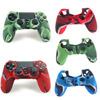 Wholesale In Stock Camouflage Silicone Case Skin Grip Cover For Playstation PS4 Controller Newest