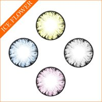 Wholesale Hot Item Ice Flower Big Eye Color contact lenses yearly disposable circle lenses ready stock