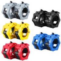Wholesale 2015 New Hot Sale x mm Collar Clamps Lock Barbell Dumbbell Spring Weight Crossfit Colorful